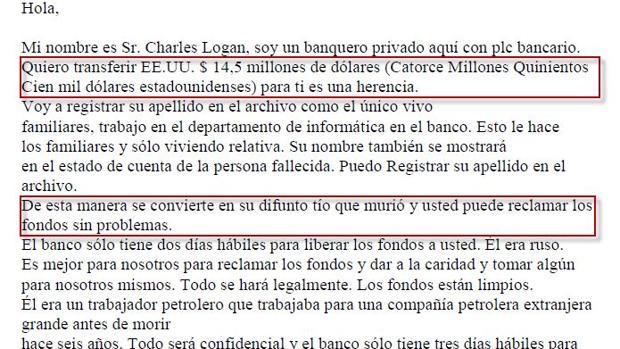 Ciberdelito de estafa Nigeriana ocurrida en España